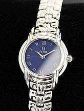 *Fendi Stainless Steel Blue Dial c.2000's Dress Watch (DN40)