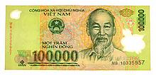 1000,000 VND One Hundred Thousand Vietnam Dong Banknote