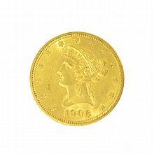 *1906 $10 U.S. Liberty Head Gold Coin