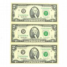 3 1995 $2 Bills