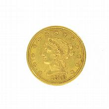 *1879 $2.5 U.S. Liberty Head Gold Coin