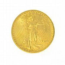 *1910 $20 U.S. Saint Gaudens Gold Coin