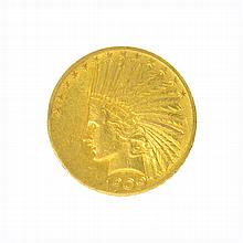 *1909 $10 U.S. Indian Head Gold Coin