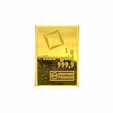 Valcambi Suisse 1g Fine Gold 999.9 Bar