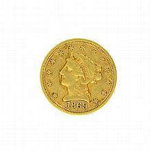 *1869-S $2.5 U.S. Liberty Head Gold Coin