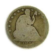 1854 Arrows At Date Liberty Seated Half Dollar Coin