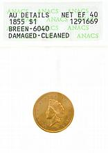 1855 $1 U.S. TY2 Gold Coin