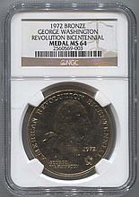 *1972 Bronze George Washington Revolution Bicentennial Medal NGC MS64 Coin (2560569003)