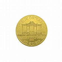 2013  1/10oz Austria Philharmonic 10 Euro Gold Coin