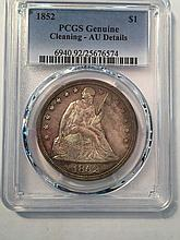 *1852 $1 PCGS AU Details Cleaned Genuine Coin (JG 25676574)