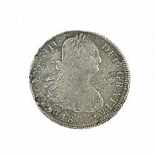 1803 Eight Reales American First Silver Dollar Coin