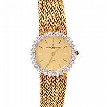 *14k Solid Gold Baume & Mercier Quartz Dress Watch (Si 1)