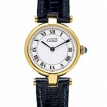 *Cartier 18K Yellow Gold Plated Solid 925 Silver Ladies Deployment (SI RE10)