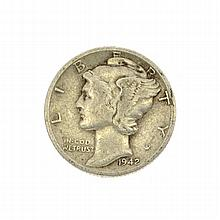 Extremely Rare 1942-D Over 41 Mercury Dime Coin