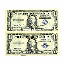 2 1935 $1 U.S Silver Certificate