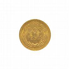 Rare 1945 Mexico Uncirculared Dos Pesos Gold Coin