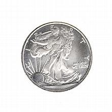 1/10 oz .999 Walking Liberty Silver Roud Coin
