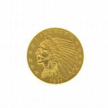 *1911 $2.50 U.S. Indian Head Gold Coin (DF)