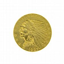 1927 $2.50 U.S. Indian Head Gold Coin
