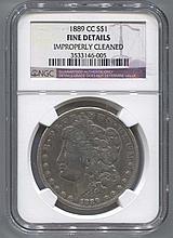 *1889-CC Morgan $1 NGC Fine Details Coin (JG 3533146005)