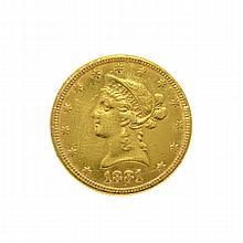 1881 $10 U.S. Liberty Head Gold Coin