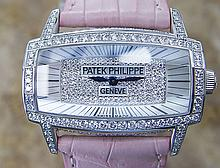 *Ladies Patek Philippe 18K Gold & Diamond Original Mother of Pearl Box & Papers (SI P7) (CASHIERS CHECK OR WIRE ONLY NON-REFUNDABLE)