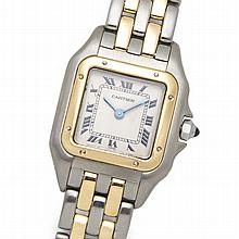 *Ladies Rare Swiss Cartier 18k Yellow Gold & Stainless Panthere 6 inch (SI L118X)