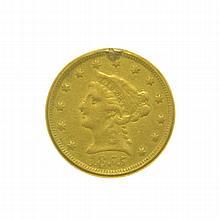 1855 $2.50 U.S. Liberty Head Gold Coin