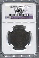 *1787 Spring Above Plow New Jersey Colonial NGC VG Details Coin (JG 3533146019)
