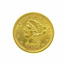 1906 $2.50 U.S. Liberty Head Gold Coin