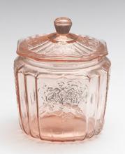 7 Inch Pink Mayfair Cookie Jar
