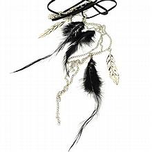 Charlotte Russe Designer Jewelry - 1 Black (organic) Feather Necklace