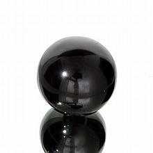 APP: 2.8k Rare 1,555.00CT Sphere Cut Black Agate Gemstone