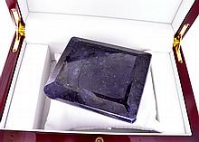 APP: 11.6k 2,916.50CT Square Emerald Cut Blue Sapphire Gemstone