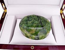 APP: 13k 1860.16CT Oval Cut Green Beryl Emerald Gemstone