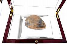 APP: 5k 1,016.00CT Pear Cut Brownish-Purple Sapphire Gemstone