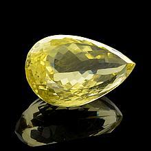APP: 3.4k 39.50CT Pear Cut Golden Citrine Quartz Gemstone