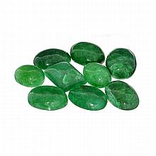 APP: 1.2k 100.00CT Various Shapes And Sizes Green Beryl Parcel