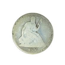 1876 Liberty Seated Half Dollar Coin