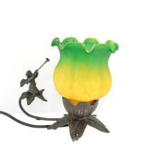 Cherub With Trumpet Lamp