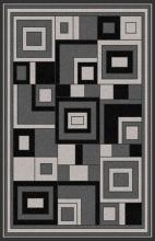 Gorgeous 4x6 Emirates Grey 508 Rug  Plush, High Quality Made in Turkey (No Rug Sold Out Of Country)
