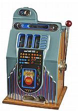 Rare Antique 5¢ Buckley Chrome Jackpot Belle Slot Machine -PNR-