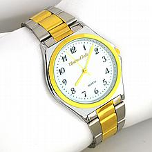 Montres Carlo Quartz Men's Stainless Steel Silver and Gold Watch