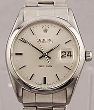 *Vintage Rolex Oyster Date Precision Manual Wind Stainless Steel Watch (SI DR13)