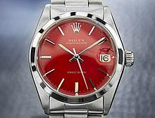 *Boys/Mens Midsize Rolex Osyterdate Precision 6466 Stainless Steel (SI RX5082)