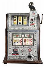 Rare Antique 5¢ Mills Spearmint Operators Bell Slot Machine -PNR-