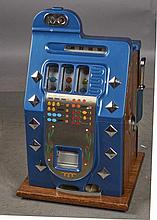 10 ¢ Mills Chrome Diamond Front Slot Machine Restored Size 16'''' x 15'''' x 26''''-PNR-Due to laws regulating the sale of Antique Slot Machines, I, as the seller, will not sell to members in the states of AL, CT,HI, NE,SC, and TN. Bids from members