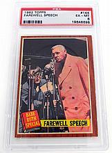 1962 Topps Babe Ruth PSA 6 EX MT #144 ''Babe's Farewell Speech''