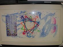 Extremely Rare James Rosenquist, Wall Street Journal, Dinner Triangles, 23 3/4 x 40, Hand Colored Etching, 1977