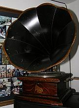 Early Large Horn Phonograph-Plays Perfectly - Pick Up Only  -P-